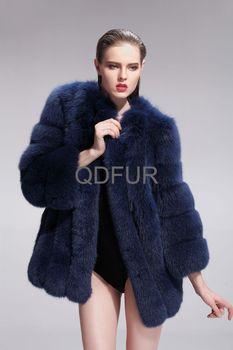 2013 Women Genuine Whole-Piece Silver Fox Fur Coat Female Winter Warm Outwear Fashion Garment QD27574A