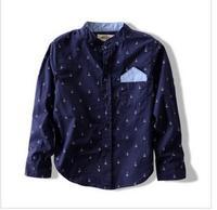2013 children summer new fashion shirt boy pure cotton shirts