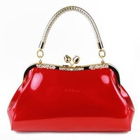 Art of Living Sale 2014 women's  japanned leather handbag shoulder bag red bridal small bag wholesale