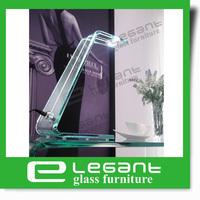 2013 Clear Curved Glass Desk Lamp -L001C