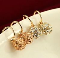 Crystal accessories tassel small ball earrings long vintage design fashion stud earring