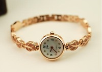 Hot Sell,Dhl Free shipping 2013 Fashion Red leaves bracelet watches Personality watches fine watches Rose gold bracelet watches