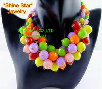 7 Colors Fashion Handmade Beaded Chain Bib Statement Pendant Collar Choker Necklace Women Jewelry,A36