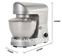 1000W Multifunction Stand Food Mixer Dough mixer food machine 5L silver color