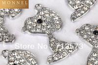 M170c Best Selling 10 pcs Cute Crystal Puppy Peanut Pet Charm Pendant Wholesale