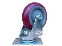 100mm Polyurethane Rubber Plastic Swivel Nylon Desk PU Polyurethane Caster Wheel 110kg