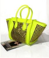 Europe faces embarrassing package rivet transparent jelly bag 2013 new female bag bag hand shoulder Messenger Bag