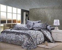 4pcs silk bedding set king size solid color duvet cover set queen luxury quilt cover set/bed cover set/bed linen