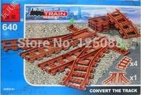 Free shipping Enlighten 640 5pcs 3D plastic building block sets train convert track bricks blocks eductional toys for children