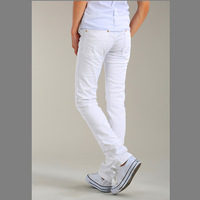 Free shipping 2014 slim fit men jeans traditional style white designer's jeans market our own original products