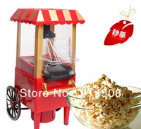 Free Shipping 1pc Diy Mini Carriage Shape Nostalgic Hot Air Popcorn Machine Poper Pop Corn Maker Popcorn Popper