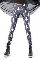 Wholesale!FREE SHIPPING!(10pieces)100% Brand New Women's Sexy Leggings & Stockings,Cross Legging Black,LC79184