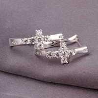 Free Shipping 925 Sterling Silver Earring Fine Fashion Cute Zircon Drop Earrings Silver Jewelry Earring Top Quality SMTE311