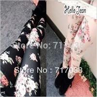 Free shipping 2015 brand summer style 8083 Rose Leggings female Korean Denim Leggings Wholesale Yiwu womens Leggings