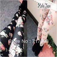 Free shipping 8083 Rose Leggings pantyhose female Korean Denim Leggings Wholesale Yiwu