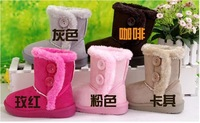 Free ship New 1pair Ritail baby girls snow boots winter kids fashion warm boots girls boots children's footwear lovely pink 7303