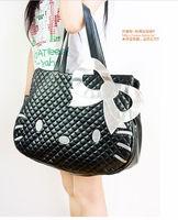 Hello Kitty black leather-like tote bag purse,2013 new arrival  handbag,Free shipping