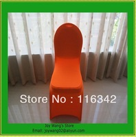 Free Shipping Fast Delivery 50pcs/lot Wholesale orange chair cover/banquet chair covers for weddings
