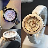 New arrival Retro Original Full Ceramic Quartz Watch for Women Small dial real ceramic Dress Wrist Watch Freeshipping