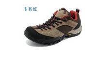 Men's genuine leather hiking shoes breathable slip resistant off-road running shoes