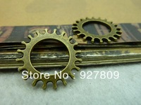 2013 Jewelry Free Delivery 40pcs/lot vintage Ancient Bronze Simple Gear 22mm diy accessories  Jewelry Accessories