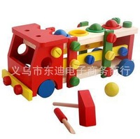 children safe woolen building block Educational entry beating engineering vehicles candy color multicolor truck model yz1087