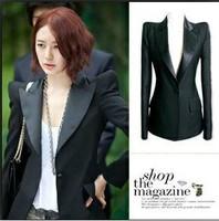 fashion blazer outerwear shoulder pads suit coat plus size Women's Clothing business Suits jacket