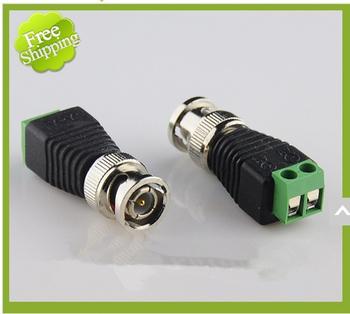 Freeshipping Coax CAT5 CCTV BNC Connector BNC Plug Crimp for CCTV Cable CAT5