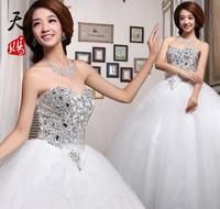 2013 new arrival luxury princess diamond wedding dress tube top bandage the bride wedding formal dress wedding dress