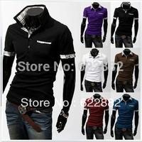 New 2013 brand summer t shirts  striped cheap polo casual shirt fashion short sleeve sport mens polo shirts