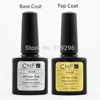 Wholesale - nail polish  Free Shipping 1set 7.3ml Soak-Off Nails UV Gel Polish Base Coat & Top Coat soak off  gel nail polish