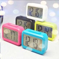 Free Shipping High-quality With Cost Price Square Clock 5 colours Music Alarm Clock Projection Alarm Clock