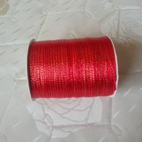 Nov sale ! Free shipping 3mm x 880 Yard Gold double side ribbons satin ribbon wedding ribbon Color # 26 red