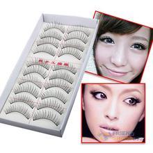 #F9s Natural Long 10 Pairs Thin Fake False Eyelashes Eye Lash Clear Makeup Tool