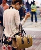 Korean version of the pillow bags straw beach bag