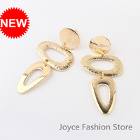 Min Order $10,2013 Fashion Designer Jewelry,Vintage Exaggerated Gold Plated Geometry Stud Earrings,Accessories for Woman,E53