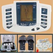 JR -309 caliente nuevo estimulador eléctrico Full Body Massager Relax Terapia muscular , pulso decenas de acupuntura con terapia zapatilla + 8 almohadillas(China (Mainland))