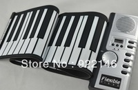 61 Keys Foldable Soft Portable Electric Digital Roll Up Keyboard Piano Free shipping
