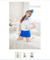 Free Shipping Sexy  White Stewardess Uniform  Lead Dancer Clothing Sauna suits FreeSize  CS004