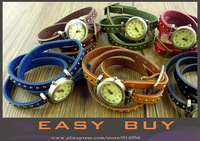 Promotion!!! Free shipping Top Quality Cow leather watches ROMA watches header women watch
