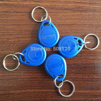 100pcs 125Khz TK4100 Unique ID Proximity ABS Waterproof blue RFID Tag,rfid key,rfid Keyfob for Access control