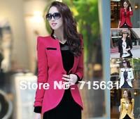 4XL 3XL 2014 Women Fashion Clothing Autumn Outerwear Plus Size Slim Suit Blazer Female Short Jacket One Button M-XXXL XXXXL