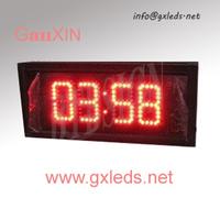 3inch 4digits aluminum frame high brightness indoor led digital clock