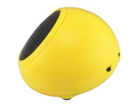 Like Genius model newest Yellowbluetooth wireless portable mini speaker for iphone with 3.5mm AUX cable, Built in Li battery