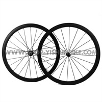 Freeshipping! 700C 38mm bicycle carbon tubular wheel, 2:1 rear spoke ratio, YS-CC2-38T, free shippping!!!