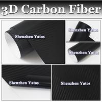 0.22MM Black 3D Carbon Fiber Sheet Vinyl Sticker /1.52*30M/Air Bubble