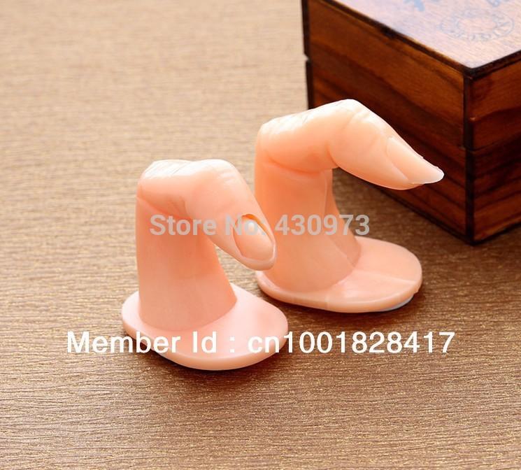 Free Shipping 1pc Fake Practice Training+ display fingers nail art(China (Mainland))