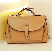 2013 Preppy Style  Women Vintage Messenger Bags One Shoulder Cross-body Genuine Leather  Women's Handbag GBG021