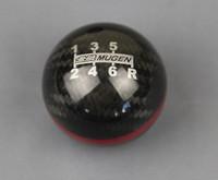 Custom design fit for Mugen 6 speed Carbon Fiber Gear Shift Knob red line