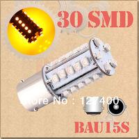 2pcs 1156 BAU15S PY21W 30 SMD Amber / Yellow Tail Turn Signal 30 LED Car Light Bulb Lamp